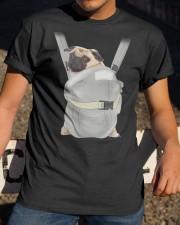 Cute Pug Dog Carrier Classic T-Shirt apparel-classic-tshirt-lifestyle-28