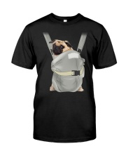 Cute Pug Dog Carrier Classic T-Shirt front