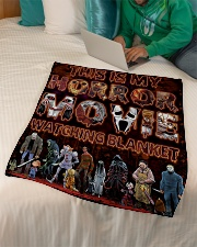 """My Horror Movie Watching Small Fleece Blanket - 30"""" x 40"""" aos-coral-fleece-blanket-30x40-lifestyle-front-07"""