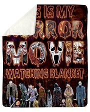 "My Horror Movie Watching Sherpa Fleece Blanket - 50"" x 60"" thumbnail"