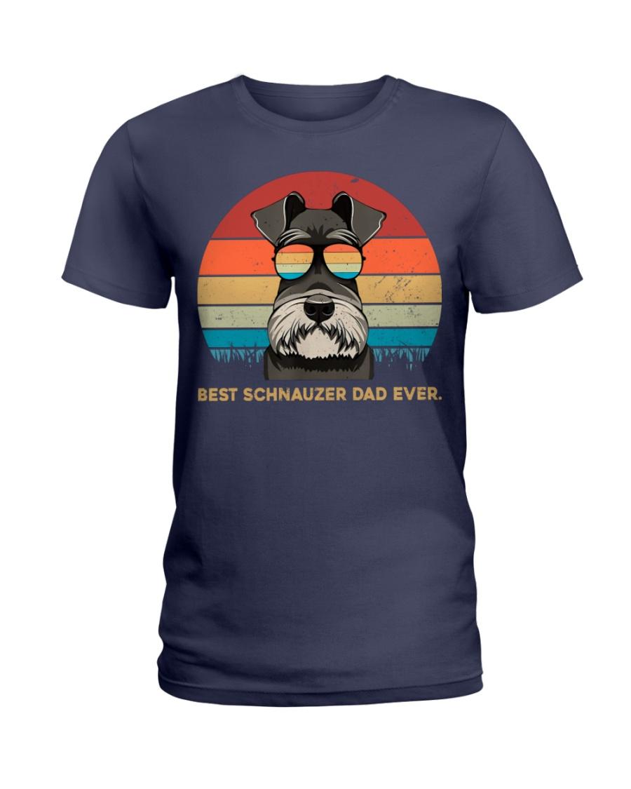 Best Schnauzer Dad Ever Gift t Shirt Ladies T-Shirt
