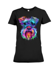 Schnauzer Art Gift t Shirt Premium Fit Ladies Tee thumbnail