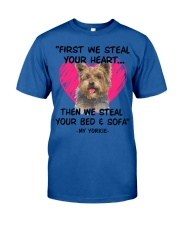 yorkies first we steal your heart Classic T-Shirt thumbnail