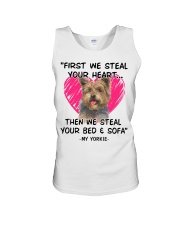 yorkies first we steal your heart Unisex Tank thumbnail