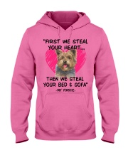 yorkies first we steal your heart Hooded Sweatshirt thumbnail