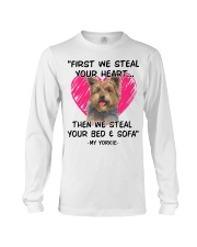yorkies first we steal your heart Long Sleeve Tee thumbnail