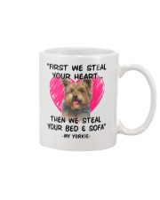 yorkies first we steal your heart Mug thumbnail