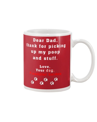 Dear Dad Dog Gift Present Bithday