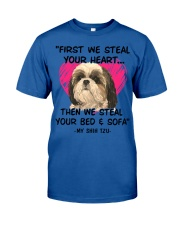 SHIH TZU First We Steal Your Heart Classic T-Shirt thumbnail