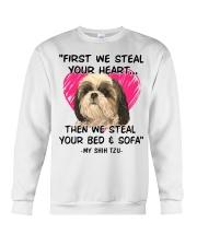 SHIH TZU First We Steal Your Heart Crewneck Sweatshirt thumbnail