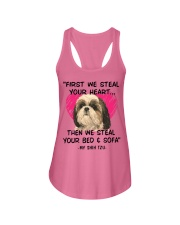 SHIH TZU First We Steal Your Heart Ladies Flowy Tank thumbnail