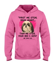 SHIH TZU First We Steal Your Heart Hooded Sweatshirt thumbnail