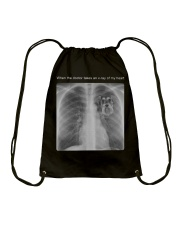 schnauzer When The Doctor Take An X-Ray Drawstring Bag thumbnail