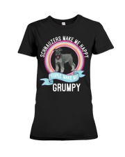 schnauzers make me happy Premium Fit Ladies Tee thumbnail