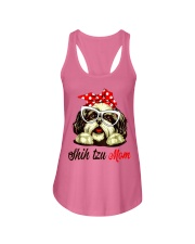 Shih Tzu Mom gift Tshirt Ladies Flowy Tank tile