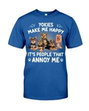 Yorkies make me happy Gift t Shirt Classic T-Shirt thumbnail