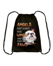 shih tzu angels Drawstring Bag thumbnail