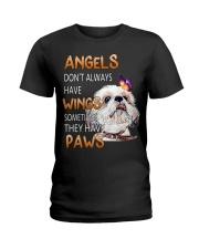 shih tzu angels Ladies T-Shirt tile