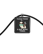 Shih Tzu - Throw it 3000 more times Cord Rectangle Necklace thumbnail