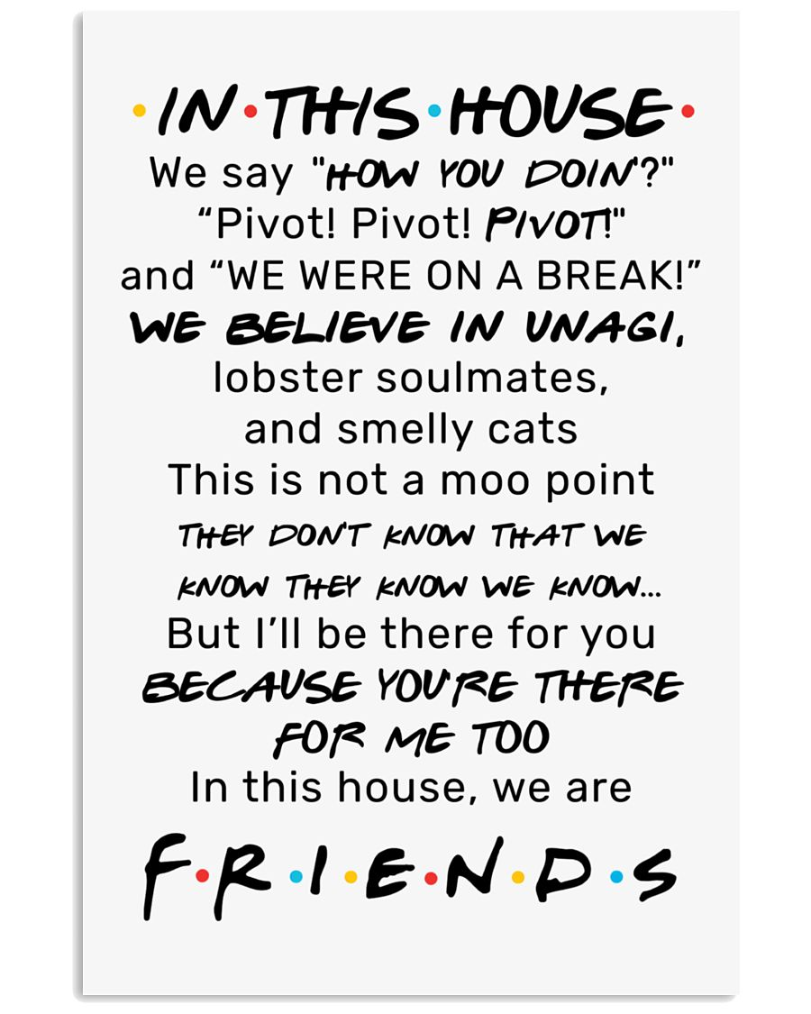 IN THIS HOUSE 11x17 Poster