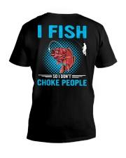 I Fish So I Don't Choke People V-Neck T-Shirt thumbnail