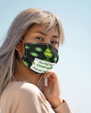 Face mask Grinch just wear the stupid mask wash Cloth face mask aos-face-mask-lifestyle-19