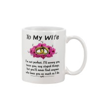 Ring to my wife i'm not perfect mug Mug thumbnail