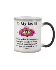Ring to my wife i'm not perfect mug Color Changing Mug thumbnail