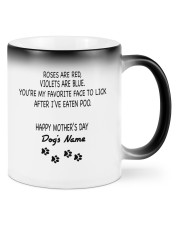 Personalized Dog parents roses are red violets are Color Changing Mug front