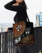 Faith over fear all over tote bag All-over Tote aos-all-over-tote-lifestyle-front-05