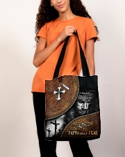 Faith over fear all over tote bag All-over Tote aos-all-over-tote-lifestyle-front-06