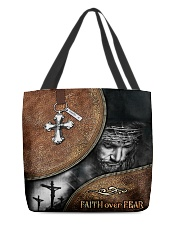 Faith over fear all over tote bag All-over Tote back