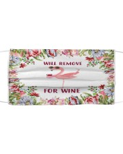 Face mask flamingo will remove for wine Cloth face mask front