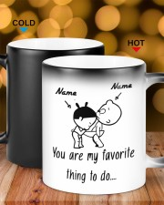 Baby girl and boy You are my favorite thing to do Color Changing Mug ceramic-color-changing-mug-lifestyle-17