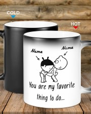 Baby girl and boy You are my favorite thing to do Color Changing Mug ceramic-color-changing-mug-lifestyle-19