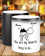 Baby girl and boy You are my favorite thing to do Color Changing Mug ceramic-color-changing-mug-lifestyle-20