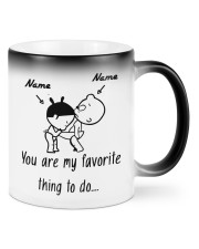 Baby girl and boy You are my favorite thing to do Color Changing Mug front