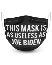 This mask is as useless as Joe Biden face mask 2 Layer Face Mask - Single front