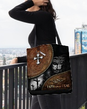Faith over fear tote bag All-over Tote aos-all-over-tote-lifestyle-front-05