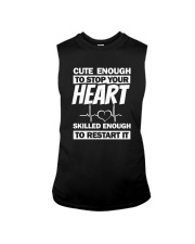 Cute Enough To Stop Your Heart Sleeveless Tee thumbnail