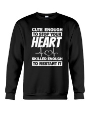Cute Enough To Stop Your Heart Crewneck Sweatshirt thumbnail