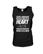 Cute Enough To Stop Your Heart Unisex Tank thumbnail