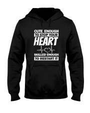 Cute Enough To Stop Your Heart Hooded Sweatshirt thumbnail