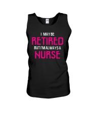 Retired but i'm always a nurse Unisex Tank thumbnail
