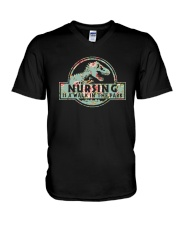 Nursing Is A Walk In The Park V-Neck T-Shirt thumbnail