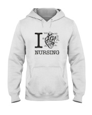 I love Nursing Hooded Sweatshirt thumbnail