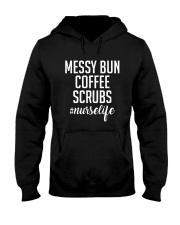 messy bun coffee scrubs Hooded Sweatshirt thumbnail