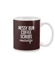 messy bun coffee scrubs Mug thumbnail