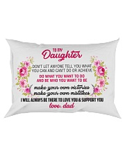 To My Daughter Rectangular Pillowcase front
