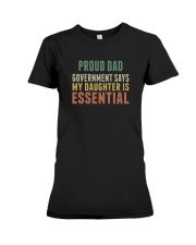 proud dad Premium Fit Ladies Tee tile